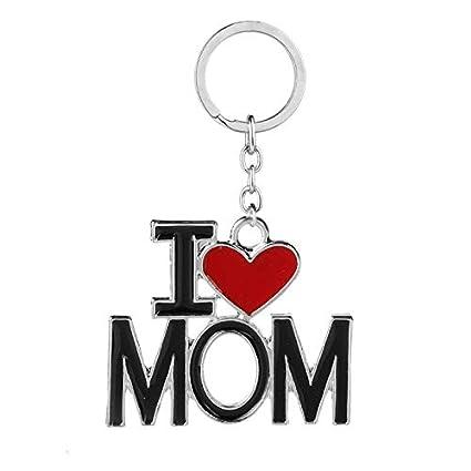 amazon com key chains new i love mom dad papa mama heart trinketkey chains new i love mom dad papa mama heart trinket keychain family rucksack buckle