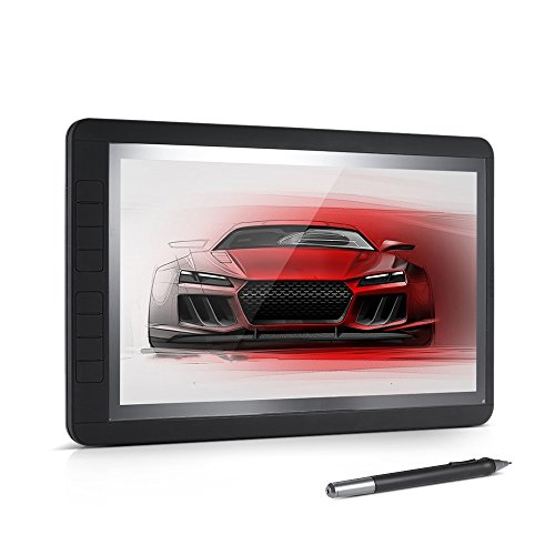 BOSTO 13HD 13'' IPS 1920 1080 Graphics Drawing Tablet Board Kit 2048 Pressure Level 2 in 1 Fast Transmission Cable 8 Shortcuts by KKmoon