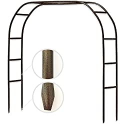 "Metal Garden Arch,7'10"" High x 5'6"" Wide Sturdy Metal Arbor with Sharp Ends for Climbing Vines and Plants,Weddings Quinceaneras Party Decoration"