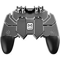 Black - L1 R1 Trigger AK66 Six Finger All-in-One Mobile Game Controller Free Fire Key Button Joystick Gamepad L1 for PUBG