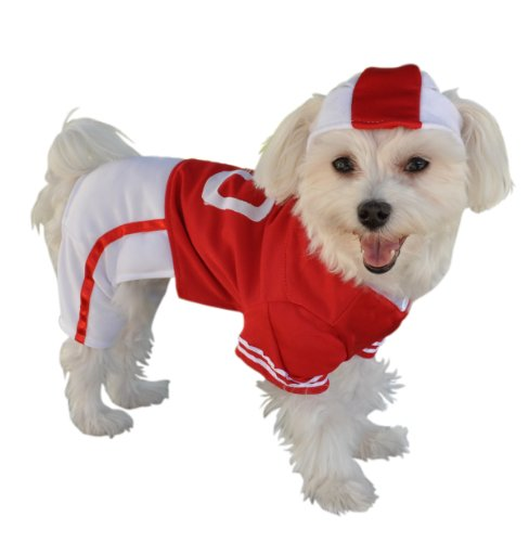 Anit Accessories Red Football Jersey Dog Costume, (Dog Halloween Costumes Football Player)