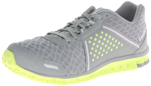 Reebok Women's Realflex Scream 4.0 Running Shoe,Grey/Neon Yellow/Pure Silver/White,9 M US