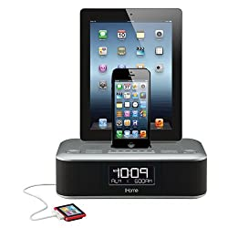 iHome iDL100 Lightning Dock Triple Charging FM Clock Radio with USB Charge/Play