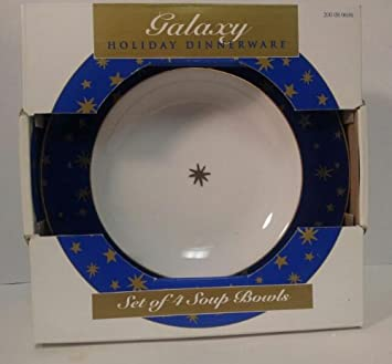 Galaxy Holiday Dinnerware By Sakura Set of 4 Soup Bowls New In Box & Amazon.com | Galaxy Holiday Dinnerware By Sakura Set of 4 Soup Bowls ...