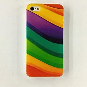 Buy Irregular Stripe Pattern Polycarbonate Hard Case for iPhone 4/4S , Multicolor