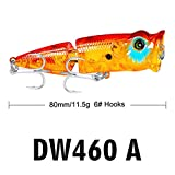 Minnow Fishing Lures Crankbaits Fishing Hard Baits with Hooks for Trout Bass Perch Fishing (A)