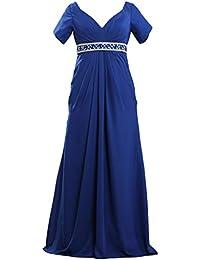 Womens Formal V Neck Short Sleeve Mother The Bride Dresses