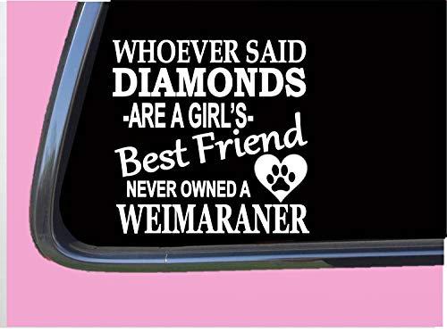 Breed Weimaraner T-shirt - Weimaraner Diamonds TP 428 vinyl 6