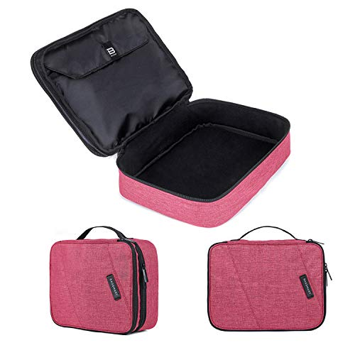 BAGSMART Double Layer Travel Universal Cable Organizer Cases Electronics Accessories Storage Bag for 10.5 iPad Pro, iPad air, Charger