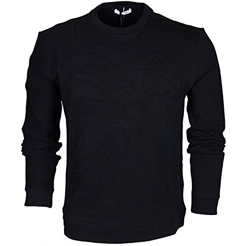 Versace Collection Medusa Chenile Embossed Sweatshirt - Versace Collection Medusa
