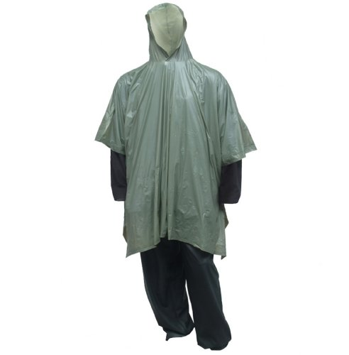 Tingley Rubber P68808 Rain Poncho with Attached Hood, Olive Drab