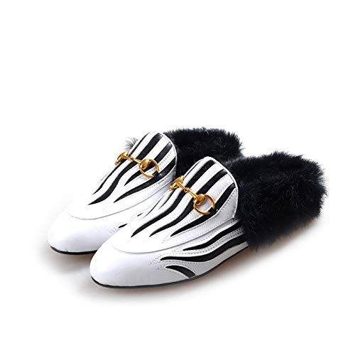 Confort Mode Baotou Coloration Chaussures Velours Muller Femmes Extérieur L'hiver Nouveau Chaussons Fond L'automne La Zhaoxiangxiang Plat Et PHqwB