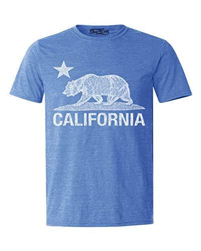 (Shop4Ever California Vintage White Bear T-Shirt Cali Shirts XX-LargeHeather Royal Blue16229)