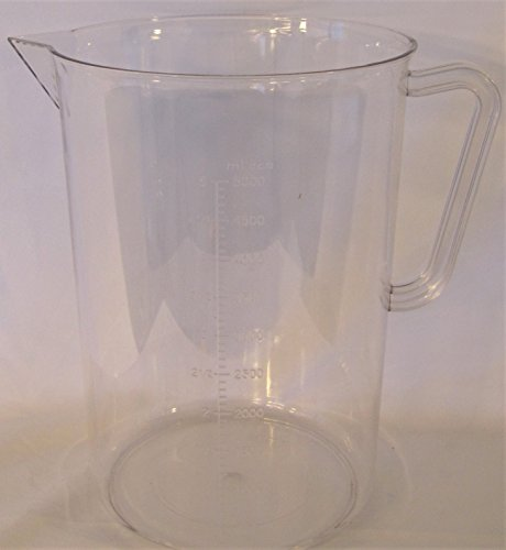 Clear Plastic Polycarbonate (PC) Beaker, Large Lab Pitcher, with Handle - Polycarbonate Beaker