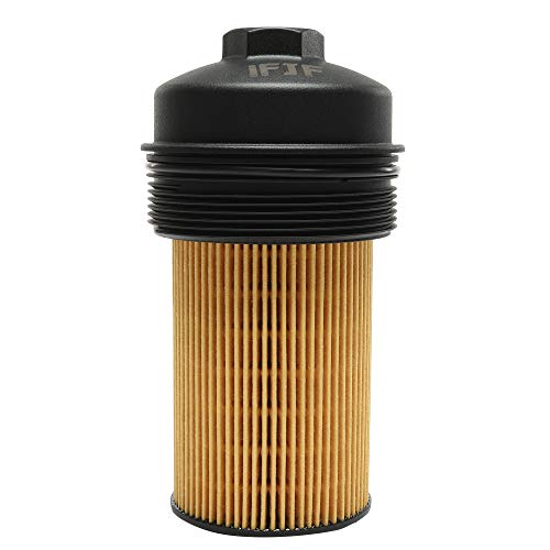 Ford Diesel Oil Filter - iFJF EC781 Oil Filter Cap and FL2016 Oil Filter for Ford 2003-2007 6.0L 2008-2010 6.4L Powerstroke F250 F350 F450 F550 Super Duty 2003-2005 Excursion 1840754C91 3C3Z-6766-CA 3C3Z6731AA