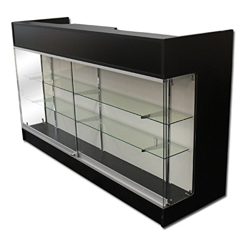 6' Ledgetop POS Sales Retail Display Showcase Counter Black Knockdown New by Unknown