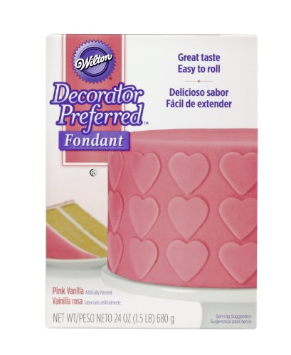 Pink Fondant (Wilton 710-2305 Decorator Preferred Fondant, 24-Ounce,)