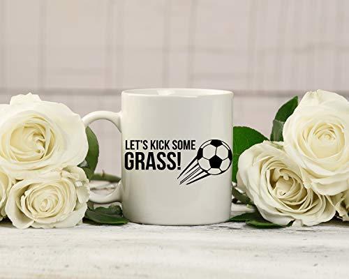 Kick Some Grass Soccer Mug - Soccer Coffee Cup,Soccer Player Mug,Soccer Dad Mug ()