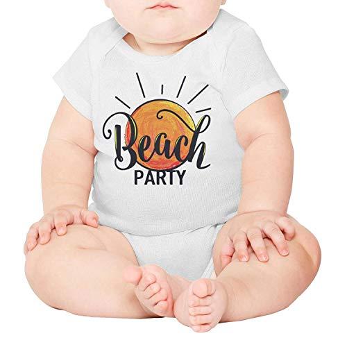 Xanx Smon Baby Onesies Bodysuit Beach Party Logo Organic -