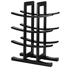SortWise 12-Bottle Espresso Bamboo Wine Rack, Small Wine Rack Perfect for Vino Bars, Cellars, Countertop, Apartment - Great for Wedding Gift