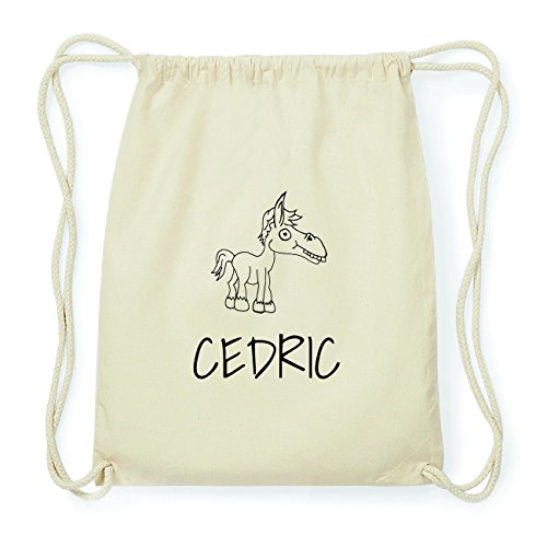 JOllipets CEDRIC Hipster Turnbeutel Tasche Rucksack aus Baumwolle Design: Pferd FykxkD