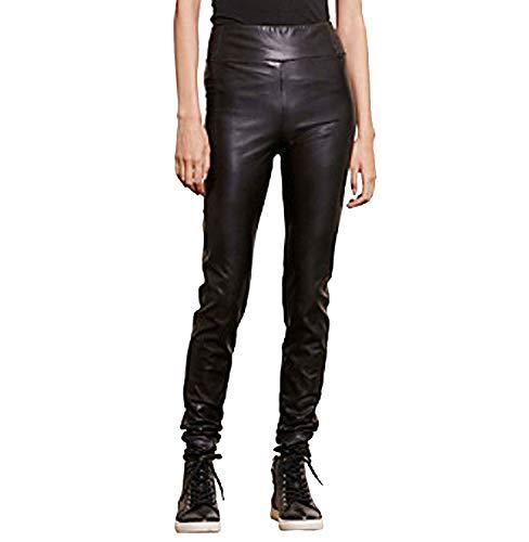 (Lauren Ralph Lauren Women's Petite Faux Leather Leggings Pants, Black)