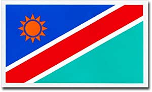 """Namibia - 2.25"""" x 4"""" Country Auto Decal"""