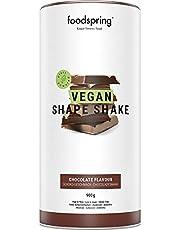 foodspring Vegan Shape Shake, Chocolade, 900g, Jouw lekkere eiwitrijke, maaltijdvervangende shake om op plantaardige wijze af te vallen*