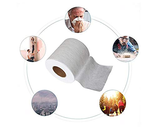 Non-Woven Fabric Melt-Blown Cloth Disposable Middle Layer Filter Microfiber Fabric Polypropylene Sediment Filters for Filtering 15M Filtering Efficiency Greater Than 95/%