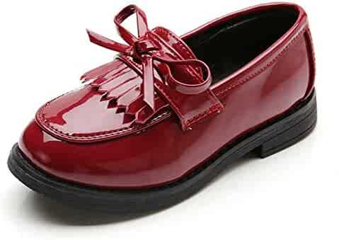 5370517c8351a 2019 Classic Girls Shoes with Tassels British Style Kids Sneakers PU Patent  Leather Shoes for Girls