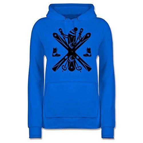 Shirtracer Wintersport - Ski Snowboard Wintersport - Damen Hoodie Himmelblau MMmpc