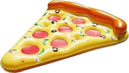 LA VAGUE Pizza Flotador de Piscina, Amarillo / Rosa, Única