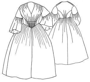 Civil War Ball Gown Pattern - 1856 Gathered Dress Pattern