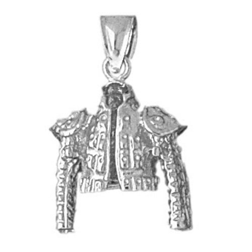 14k White Gold Matador Jacket Pendant by Noble Collections