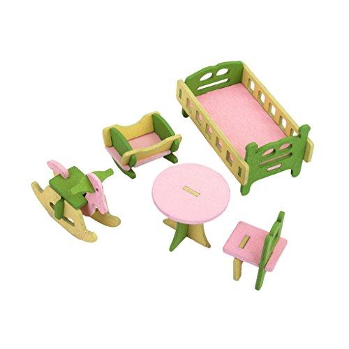 MagiDeal Furniture Miniature Bedroom Nursery