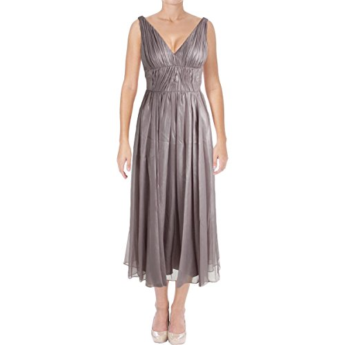 Vera Wang Women's Sleeveless Tea Length Cocktail Dress, Quartz, 6