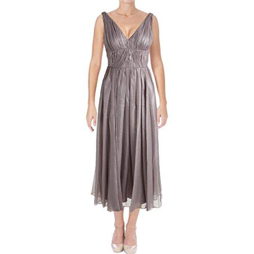 Vera Wang Women's Sleeveless Tea Length Cocktail Dress, Quartz, 6 -