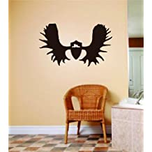 Deer Horns Animal Hunting Hunter Man With Gun picture Art - Boys Kids Bed Room Sports Hobby - Peel & Stick Sticker - Vinyl Wall Decal - DISCOUNTED SALE ITEM Size : 16 Inches X 24 Inches - 22 Colors Available