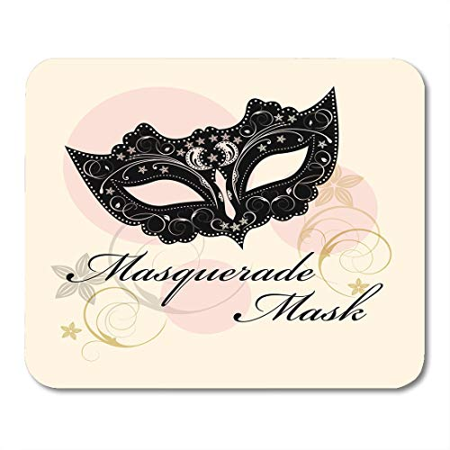 Nakamela Mouse Pads Venetian Gray Carnival Masks for Masquerade Butterfly Party White Venice Face Mouse mats 9.5