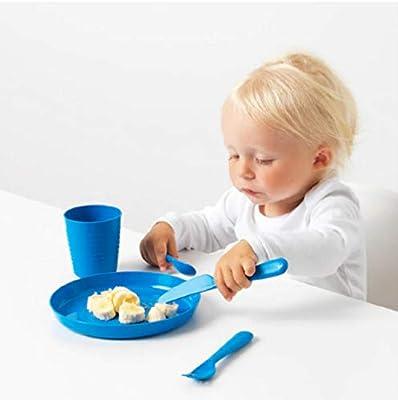 IKEA KALAS 804.213.32 - Cubertería (plástico, 6 cuchillos, 6 tenedores, 6 cucharas, 3 años, más multicolor: Amazon.es: Hogar