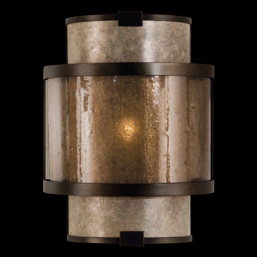 Fine Art Lamps 590550, Singapore Moderne Glass Wall Sconce Lighting, 1 Light, 60 Total Watts, Bronze