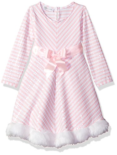 - Bonnie Jean Girls' Little Holiday Dresses, Pink Stripe, 6