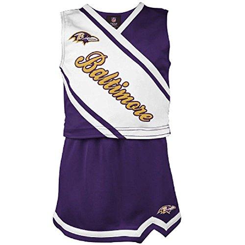 Dress Cheerleader 2 Piece (Baltimore Ravens Toddler 2-Piece Cheerleader Set - Purple 4T)