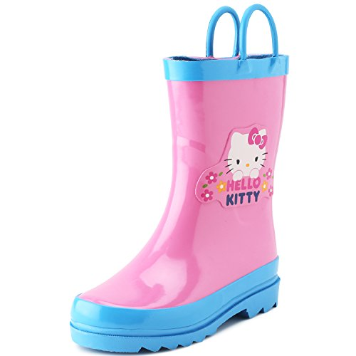 Sanrio Hello Kitty Girl's Pink Rain Boots (Toddler/Little Kid) (5-6 M US Toddler)