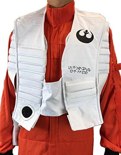 Resistance Rebel Pilot Double Layer X-Wing Vest Star Wars (M) White]()