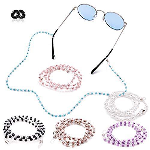Kalevel Eyeglass Chain Holder Glasses Strap Beaded Sunglass Chains for Women (Black) from Kalevel