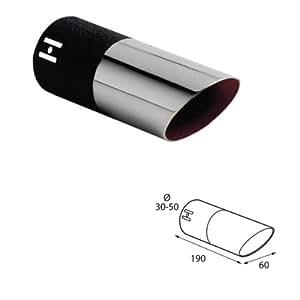 ER60000 - Acero inoxidable de tubo de escape del tubo de escape de para atornillar Embellecedor de tubos de escape universales negro/cromo: Amazon.es: Coche ...
