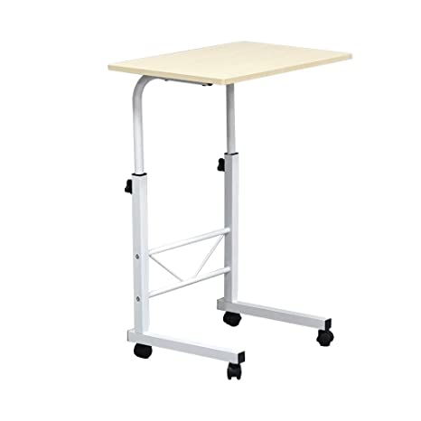 Azadx Mobile Side Table, 23.6u0027u0027 X 15.7u0027u0027 Height Adjustable Table,
