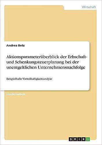 bachelor thesis unternehmensnachfolge
