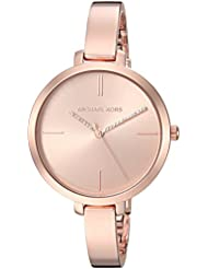 Michael Kors Womens Jaryn Quartz Stainless Steel Casual Watch, Color:Rose Gold-Toned (Model: MK3735)